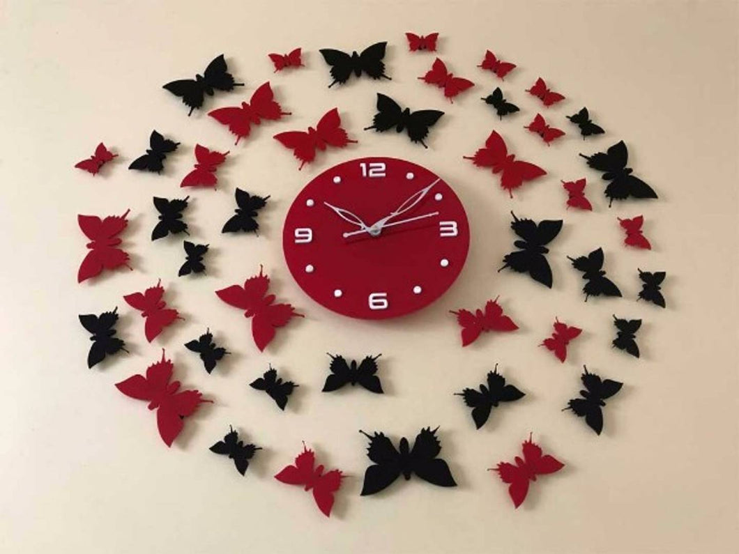 Butterfly Room -Designer Acrylic Wall Clock Size 2.5foot