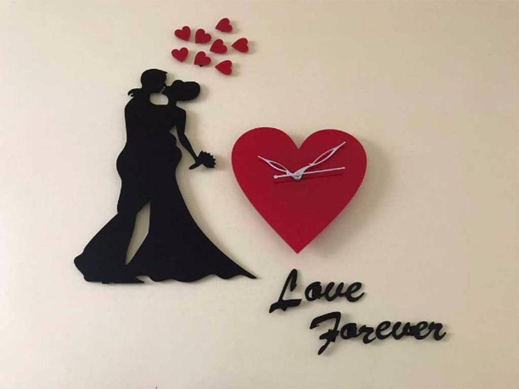 Together Forever- Designer Acrylic Wall Clock Size 2.5foot