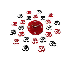 Load image into Gallery viewer, Shree Vinayak OM Designer Acrylic Wall Clock Size 2.5foot