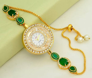 Beautiful Kundan watch cum bracelet