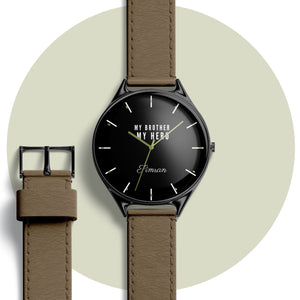Personalised wrist watch with text