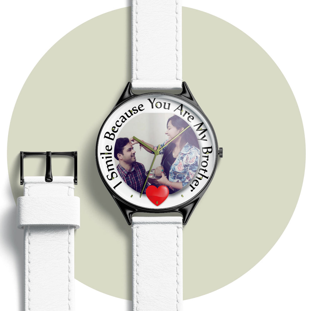 Personalized Rakhi Watch with photo and message