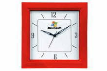 Load image into Gallery viewer, Logo Wall Clock 10.5 inch Square