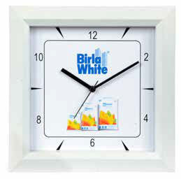 Logo Wall Clock 10.5 inch Square