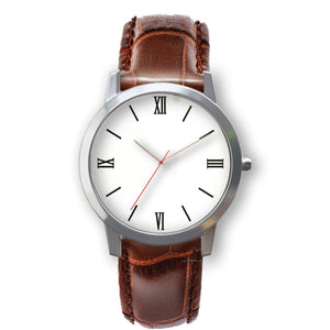 Upload Photo in watch- Brown leather strap- 3 colors