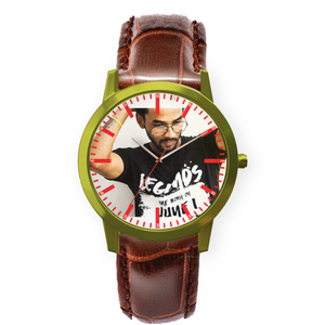 Personalized wrist watch with photo