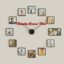 Load image into Gallery viewer, Family Comes First, Personalized Wall Clock