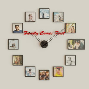 Family Comes First, Personalized Wall Clock