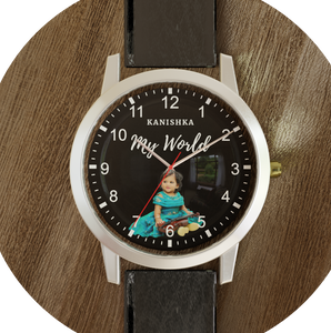 Custom Wrist Watch with name and Photo (Titan Case and Machinery)