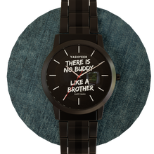 Load image into Gallery viewer, Personalized name and message metal wrist watch.