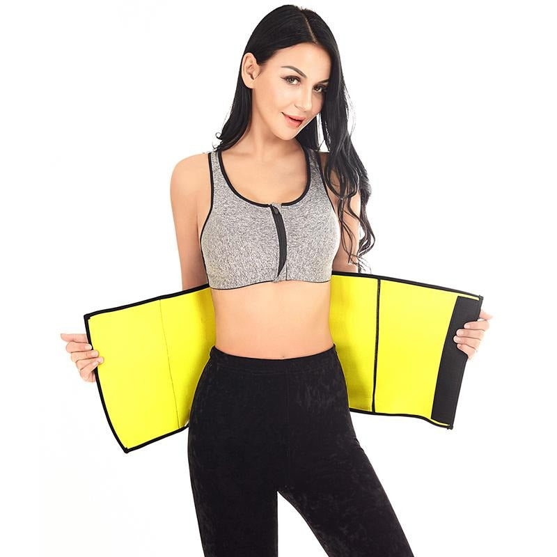 Black And Yellow Women's Hot Thermo Waist Cinchers