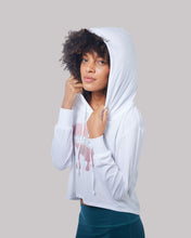 Load image into Gallery viewer, Sparkled Kiss Cropped Hoodie (2 colors)