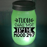 Thou Shall Not Try Me Solar Lantern