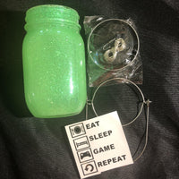 Eat Sleep Game Repeat Solar Lantern DIY Kit - Meg Campbell Designs
