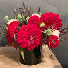 Load image into Gallery viewer, red dahlias weddings nyc