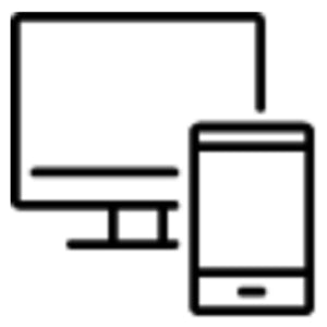 Desktop printer and tablet icon