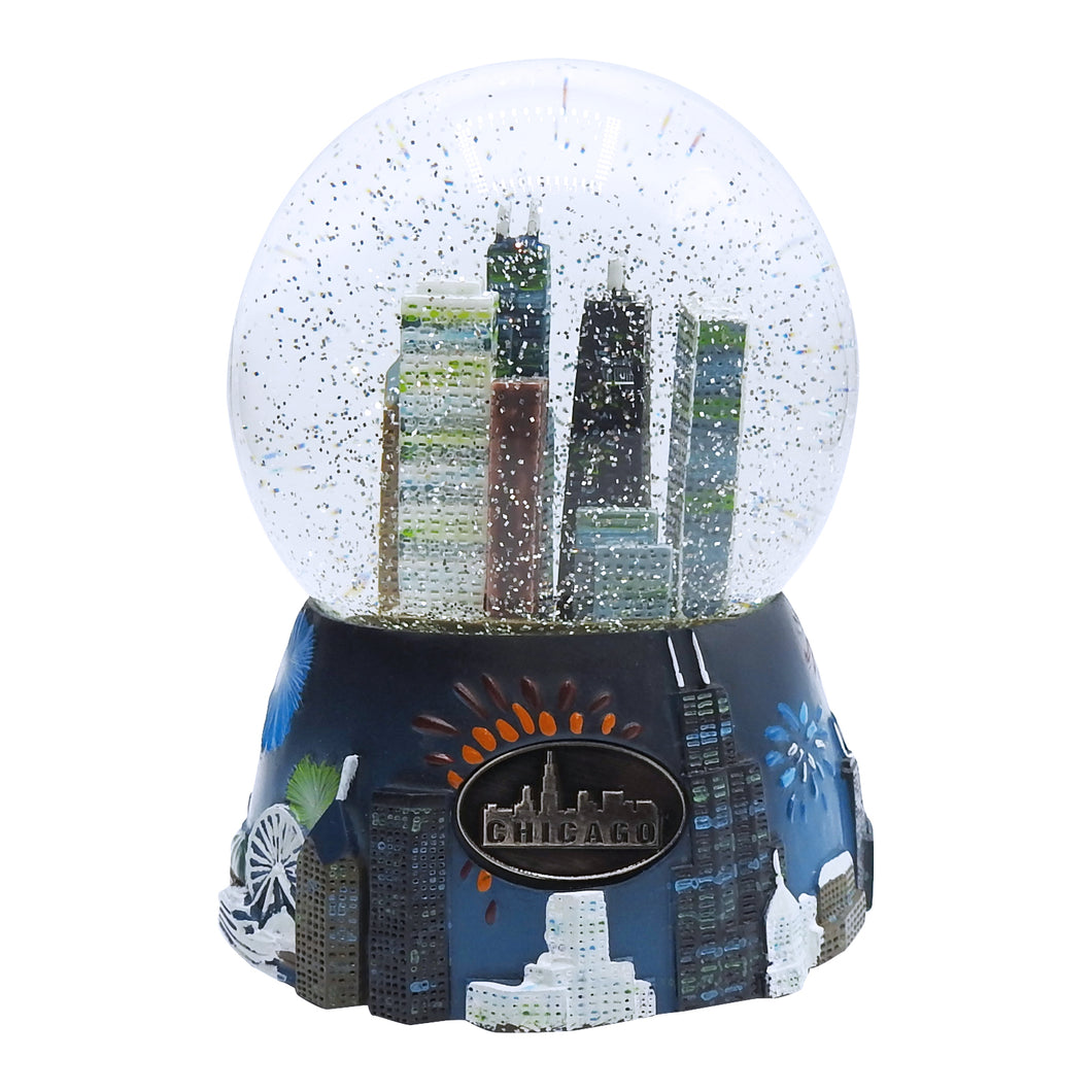 Chicago at Night Snowglobe - Chicago History Museum Store