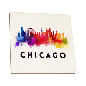 Chicago Abstract Skyline Coaster - Chicago History Museum Store