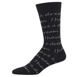 I Have A Dream Script Socks - Chicago History Museum Store