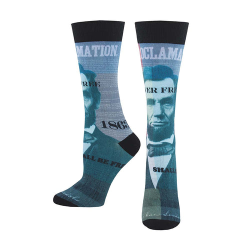 Abraham Lincoln Typography Socks - Chicago History Museum Store