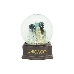 Chicago Snowglobe on Wood Base - Chicago History Museum Store