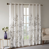 Cortina 127x213 cm Madison Park Cecily Floral - Blanco