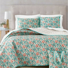 Set Quilt Full/Queen 4 piezas Martha Stewart celeste