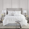 Cobertor Queen Reversible Madison Park Laurel - Blanco