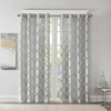 Cortina 127cm x 241cm Burnout Madison Park Eden - Gris