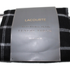 Piecera Lacourte reversible plaid negro