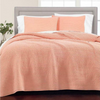 Quilt King 100% De Algodón Martha Stewart Washed Rice - Coral