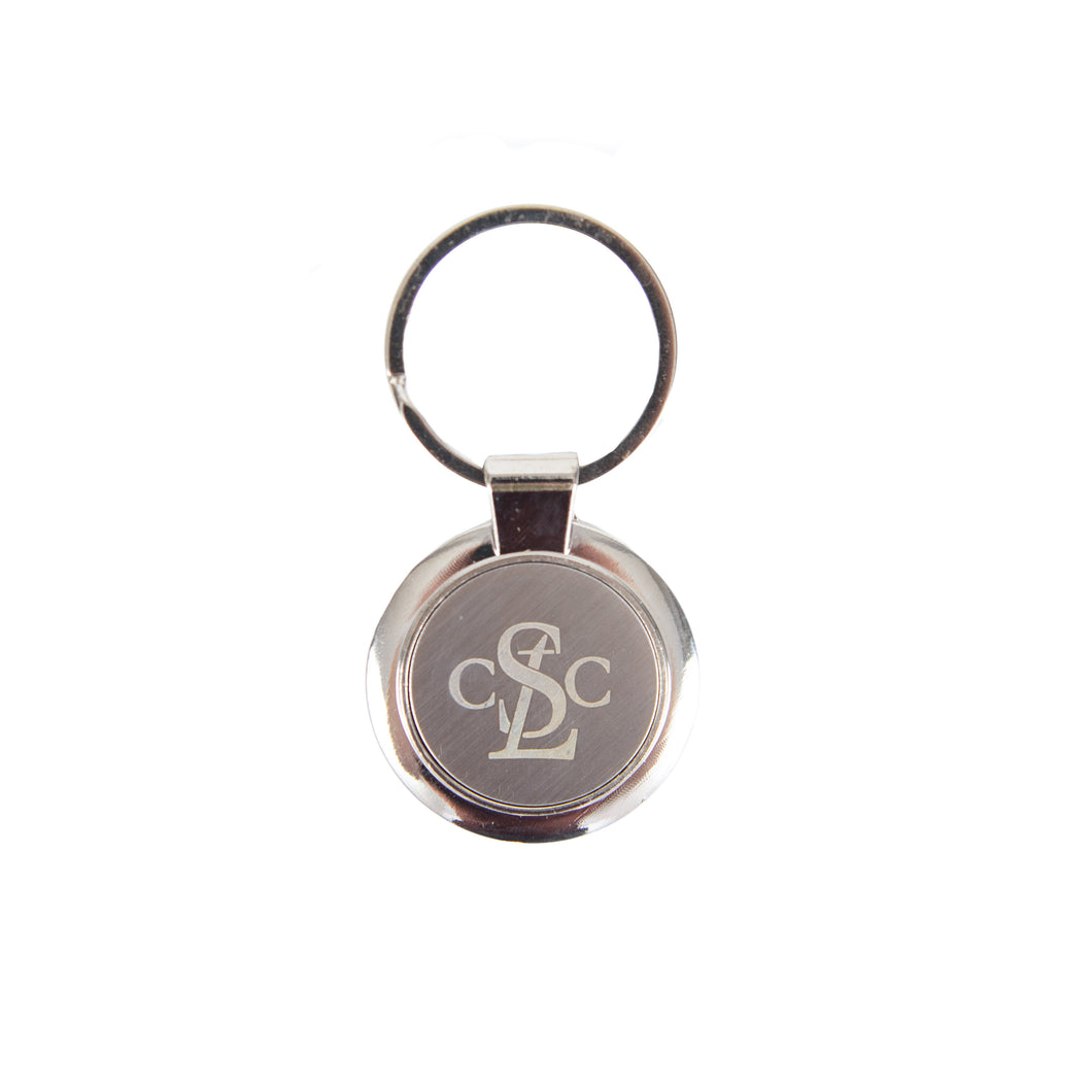 Saint Louis Chess Club Steel Keychain