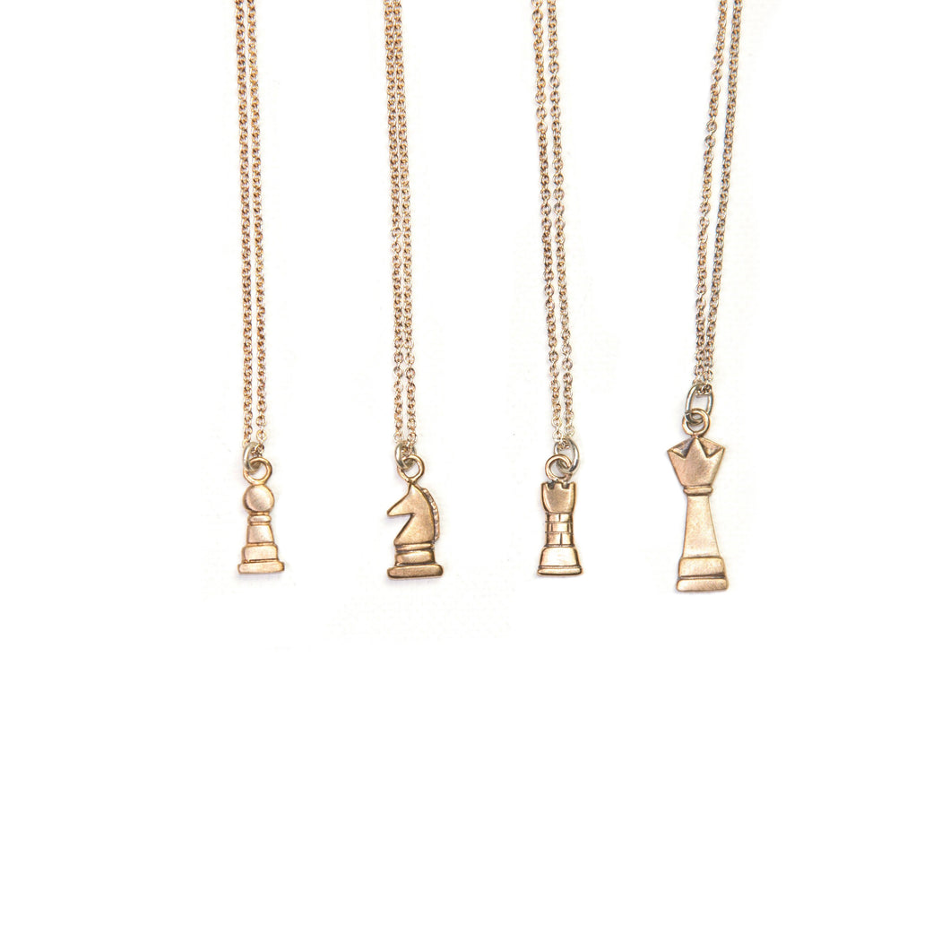 Brass Chess Necklace