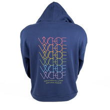 Load image into Gallery viewer, WCHOF Alt Pullover Hoodie - Navy/Rainbow