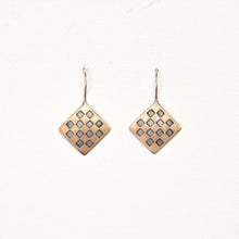 Load image into Gallery viewer, Brass Chess Hook Earrings
