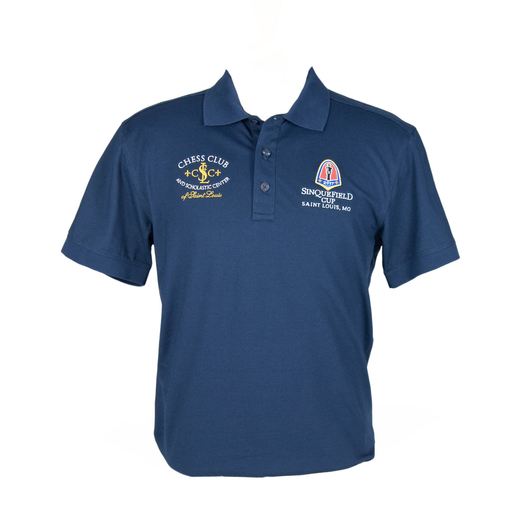 #2017 Sinquefield Cup Navy Short-Sleeve Polo