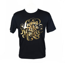 Load image into Gallery viewer, #Living Like Kings Unisex Foil T-Shirt