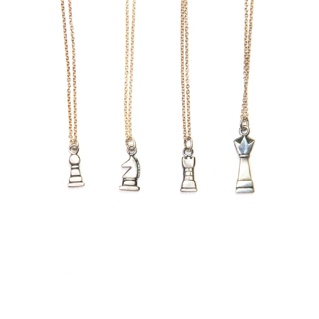 Silver Chess Necklace