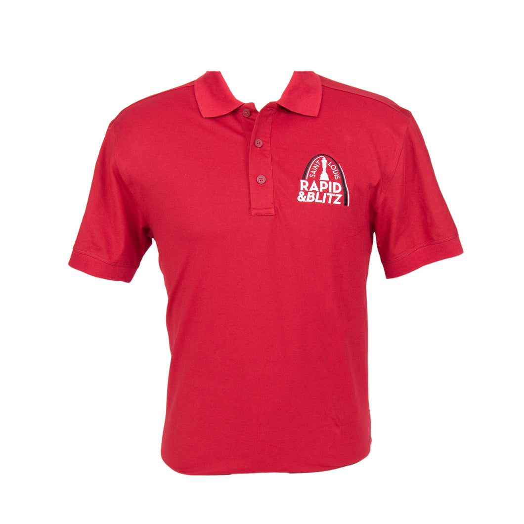 #2017 Rapid & Blitz Red Short Sleeve Polo