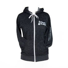 Load image into Gallery viewer, Check Yo Self 2.0 Zip Hoodie - Digital Black