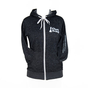 Check Yo Self 2.0 Zip Hoodie - Digital Black
