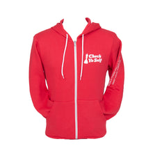 Load image into Gallery viewer, Check Yo Self 2.0 Zip Hoodie - Red