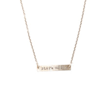 Load image into Gallery viewer, Mini Coordinates Necklace in Silver - STL
