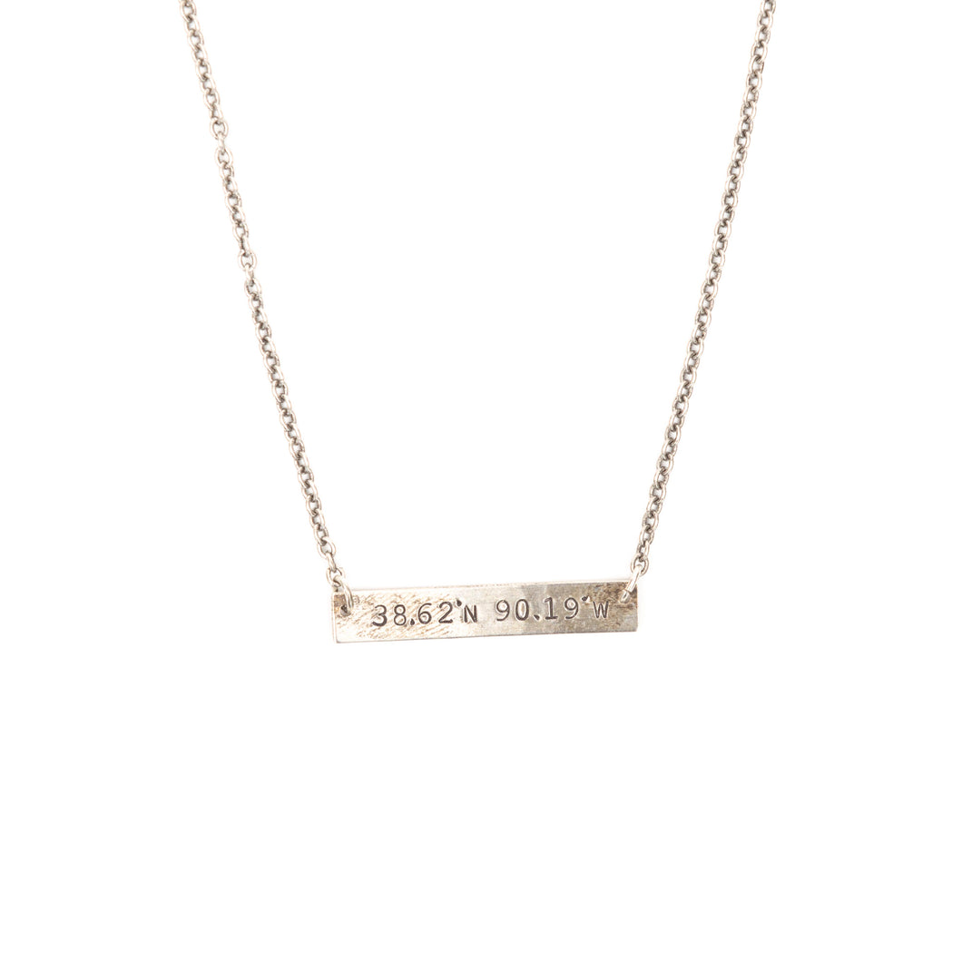 Mini Coordinates Necklace in Silver - STL