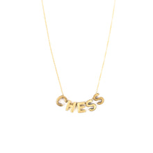 Load image into Gallery viewer, Letter Necklace - 5 letters -CHESS 18""