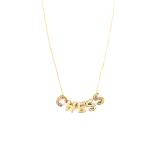 Letter Necklace - 5 letters -CHESS 18""