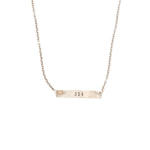 Area Code Necklace - 314 Silver