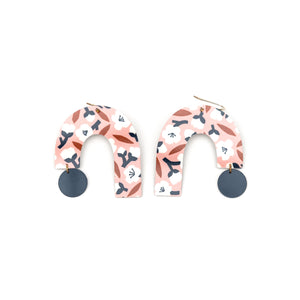 Peach Blossom Big Arch Drop Earrings
