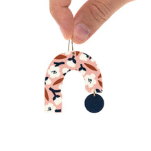 Load image into Gallery viewer, Peach Blossom Big Arch Drop Earrings