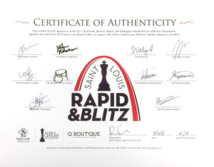 2018 Rapid & Blitz Roll-Up Board [Autographed]